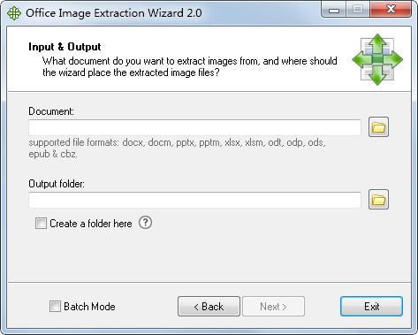 Office Image Extraction Wizard(批量提取文档图片) V2.0 英文版