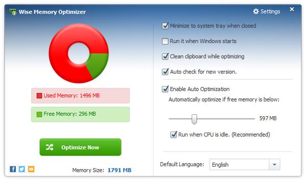 Wise Memory Optimizer(智能内存优化) V3.37.91 绿色版
