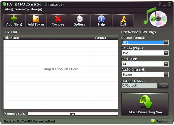 Flv to MP3 Converter(flv转mp3工具) V1.0