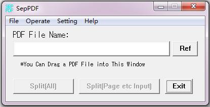 SepPDF(pdf文件分割工具) V2.93 英文绿色版
