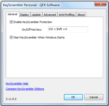 KeyScrambler Personal(键盘防记录保护工具) V3.11.0.0