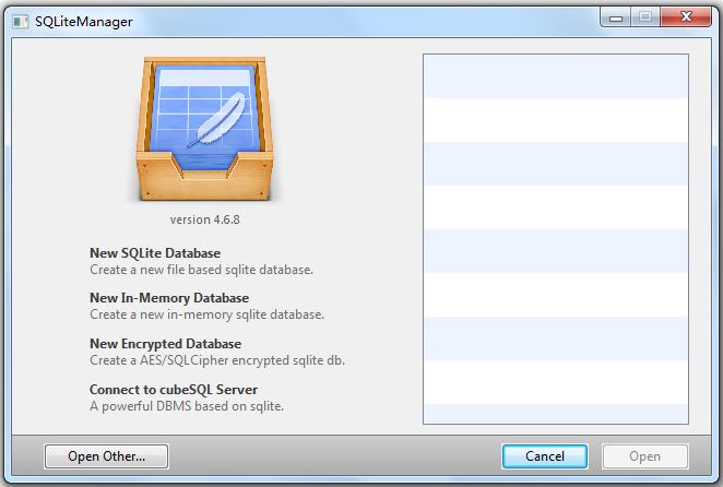 SQLiteManager(数据库管理工具) V4.6.8