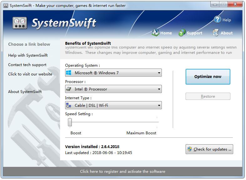 SystemSwift Portable(电脑提速工具) V2.6.4.2018 英文绿色版