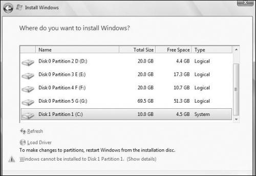 在一个分区里完美安装Win7/XP双系统