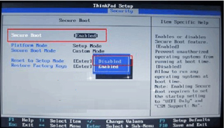 Think Pad电脑原装Win8换成Win7系统的方法