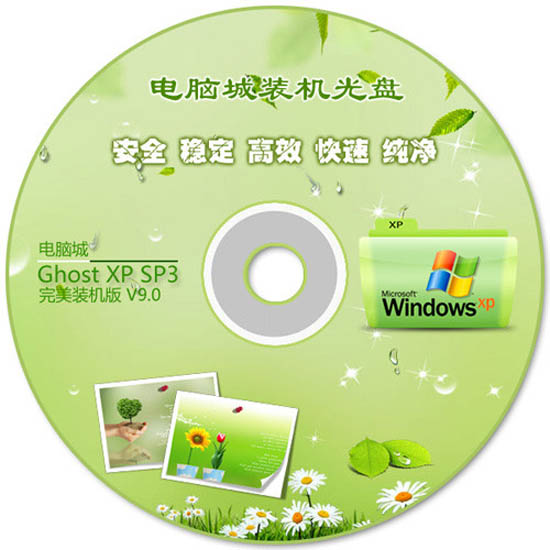 电脑城 GHOST XP SP3 2011 完美装机版 V9.0 原生NTFS