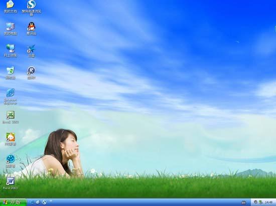 《GHOST XP SP3 电脑商客户装机版 V9.0》FAT32